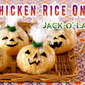 Halloween Jack-o'-Lantern Chicken Rice Onigiri Rice Balls - Video Recipe