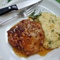 Pan-Roasted Maple Pork Chops with Parmesan Polenta