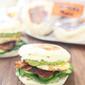 Bacon, Avocado and Egg English Muffin Sandwich
