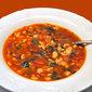 Tomato, White Bean and Pasta Soup, Moroccan markets