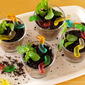 Dirt Cups with Worms (OREO Sand & Healthy Soy Milk Chocolate Custard Cream) - Video Recipe