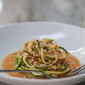 """The Raw And The Cooked. Zucchini, The """"Unpasta"""" With a Spiced Indian Tomato Sauce."""