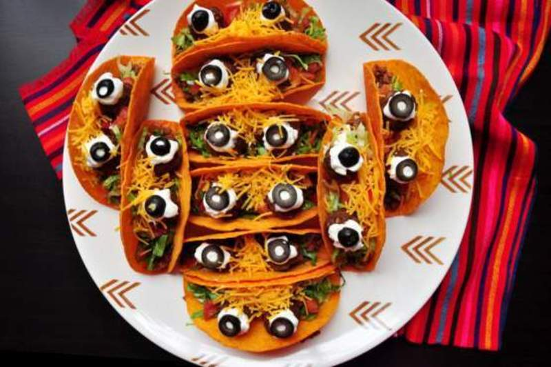 Mexican Spooky Eyeball Tacos