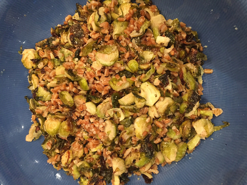 Shaved Brussels Sprout and Farro Salad