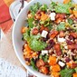 Farro Salad with Butternut Squash, Bacon and Cranberries