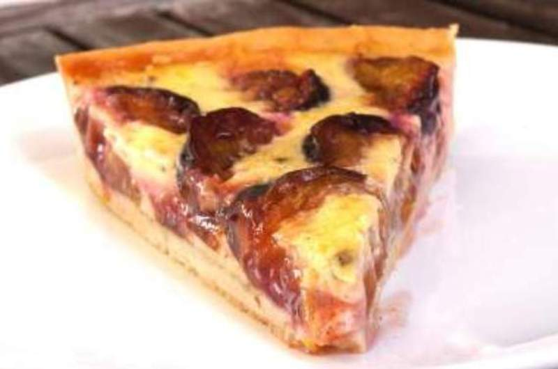 Plum Custard Tart