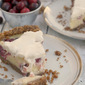 Cranberry Yogurt Custard Pie with Nutty-Oat Crust