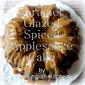 Caramel Glazed Applesauce Spice Cake