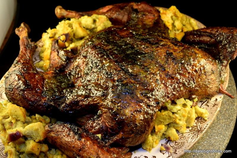 Southwestern Jalapeno Glazed Turkey with Jalapeno Cheese Bread Stuffing