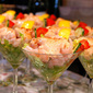 King Prawn and Avocado Towers with Horseradish Cream