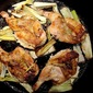 Pan-Roasted Game Hens with Lemon and Leeks