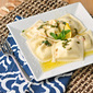 Cheese Ravioli with a Lemon Basil Butter Sauce