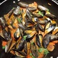 Steamed Mussels and Andouille in White Wine Broth