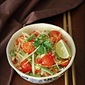 A Vegetarian Som Tum/ Som Tam (Thai Green Papaya Salad)