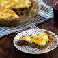 "Salami and Swiss Quiche with Potato Crust (""Raclette"" Quiche)"