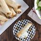 Crispy Baked Chicken and Hummus Flautas