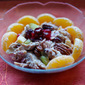 Mandarin Chicken Salad with Fresh Cranberries and Pecans