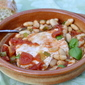 Halibut In Tomato Sauce with Beans