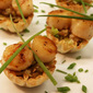 Scallops and Leeks in Filo Cups