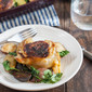 Honey Mustard Chicken Thighs with Parsnips and Crispy Kale