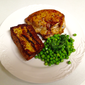 Roasted Garlic and Tarragon Brioche Pudding