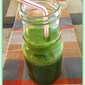 Green smoothie with coconut water