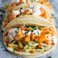 Teriyaki Shrimp Tacos with Chili Lime Yogurt