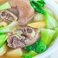 Boiled Pork Knuckles Soup with Squash (Nilagang Pata may Kalabasa)