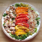 Grilled Chicken & Brown Rice Salad Bowls