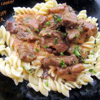 Pressure cooker beef Stroganoff with pasta
