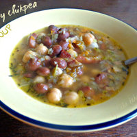 Hearty chickpea soup