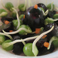 Black Grapes and Peas Sprout Salad