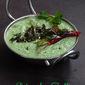 Pudhina Soppu Tambli/Mint Leaves Sour Curry