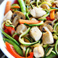 Easy Chicken Zucchini Noodle Stir Fry