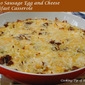 Potato Sausage Egg and Cheese Breakfast Casserole