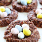 No-Bake Chocolate Peanut Butter Nest Cookies