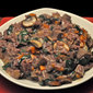 Venison, Mushroom, Red Wine Risotto; the truth about rabbit heads