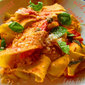 Pappardelle with simple tomato sauce