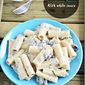 Mushroom pasta with white sauce