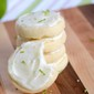 Shortbread Cookies with Lime Cream Cheese Frosting