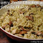 Creamy Pesto Chicken and Portobello Skillet