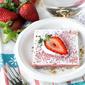Roasted Rhubarb Strawberry Squares