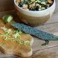 Black Kale Salad with Lemon-Saffron Dressing