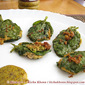 Pui pata diye Posto Bora / Malabar spinach leaves stuffed with poppy seeds paste