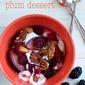 plum dessert – fresh and light
