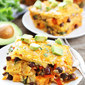 Stacked Sweet Potato and Black Bean Enchiladas
