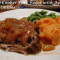 Slow Cooker Pork Roast with Apples and Onions