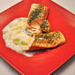 Salmon with Leek Sauce, no hurry