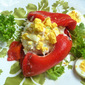 Lunch With Madame Mere...Mediterranean Tuna Salad On Roasted Red Peppers