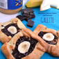 Easy Chocolate, Peanut Butter and Banana Galette